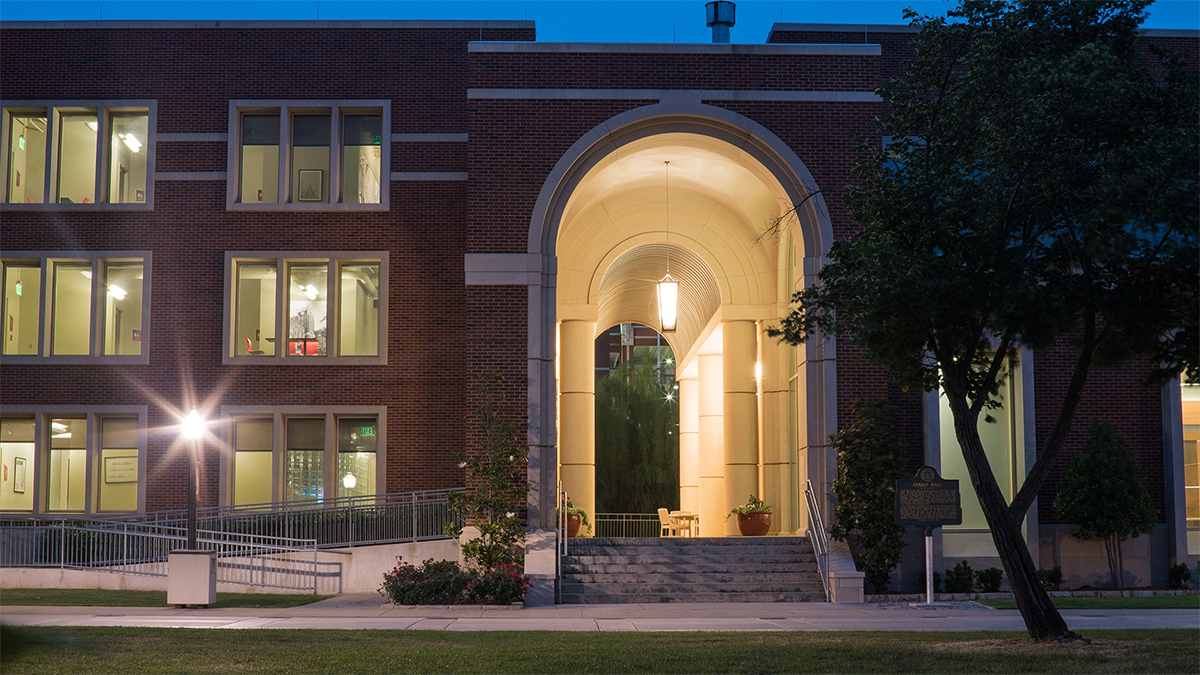 Gould Hall at Night