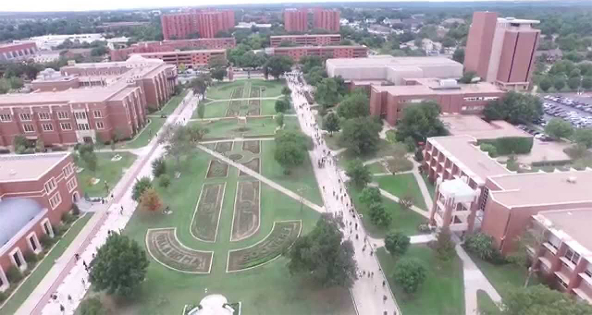aerial view of south oval